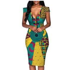 2018 africa summer dress for women AFRIPRIDE tailor made short sleeve knee length casual women pencil dress cotton Source by jniang dress modern Long African Dresses, Latest African Fashion Dresses, African Inspired Fashion, African Print Dresses, African Print Fashion, Africa Fashion, Dress Fashion, African Attire, African Wear
