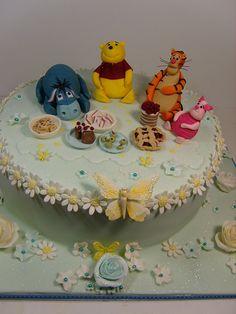 Winnie the pooh christening cake  | by elizabethscakeemporium