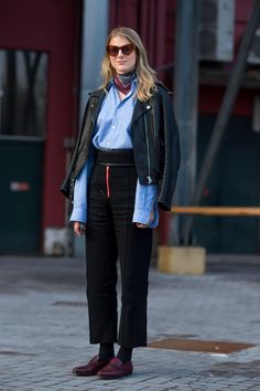 On the street at Milan Fashion Week. Photo: Moeez/Fashionista
