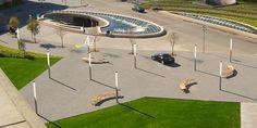Hargreaves Associates - Hargreaves Associates Galleria Dallas Landscape Plaza, Light Art, Creative Director, Signage, Fountain, Dallas, Golf Courses, World, Architects