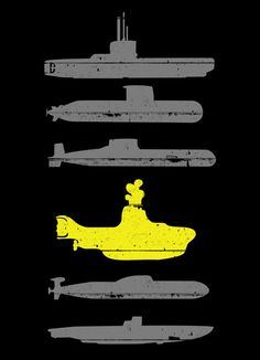 Know Your Submarines by Resistance (Beatles Yellow Submarine) Les Beatles, Beatles Art, Beatles Poster, Pop Art, Festa Yellow Submarine, Submarine Craft, Submarine Museum, Submarine Movie, Ouvrages D'art