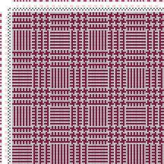 Weaving Draft Karierte Muster Pl. VIII Nr. 3, Die färbige Gewebemusterung, Franz Donat, Germany, 1907, #64239