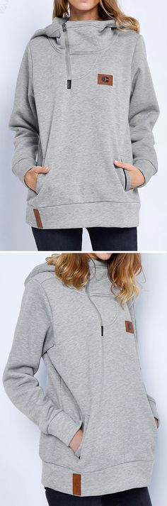 Check it, $41.99 now! Free Shipping! Go wherever the wind takes you in the Hooded Casual Sweatshirt. Don't get lost in the crowd wearing the one. Make you stylish with something new. Save more for fall at Cupshe.com !