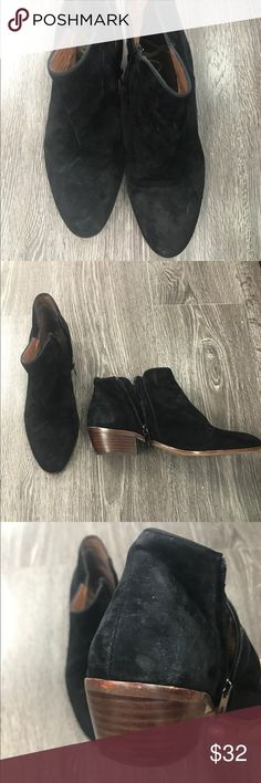 Sam Edelman suede ankle boots Sam Edelman black suede women's boots.. ankle with side zipper.. nice condition Sam Edelman Shoes Ankle Boots & Booties