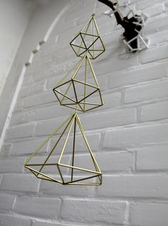 XMAS TREE Himmeli | Modern Hanging Mobile | Geometric Art Sphere | Air Plant…