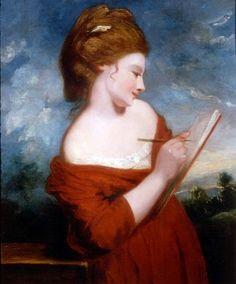 Portrait of Elizabeth Johnson (c.1780). Sir Joshua Reynolds (English, 1723-1792).