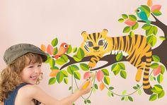 """Ein bisschen Dschungel fürs Kinderzimmer - Wandsticker """"Tigerchen"""", gibts bei beiwanda.de"""
