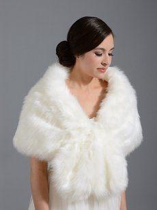 White Faux Fur Wrap/Shrug/Shawl