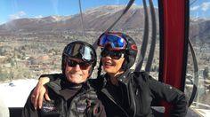 Michael Douglas y Catherine Zeta-Jones, en la nieve