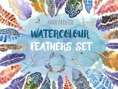 Watercolour Feathers Graphic Set by LV on @creativemarket