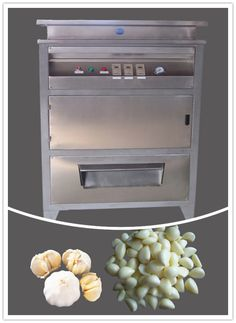 Garlic Peeling Machine, can peel the shell of the dry garlic clove and ginger automatically without soaking.