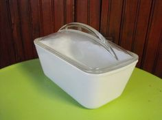 Vintage Westinghouse Milk Glass Refrigerator Dish by peacenluv72, $18.50