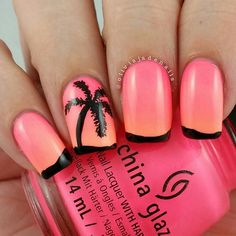 Next up for #clairestelle8august is palm trees. I love this mani. It's definitely much... | Use Instagram online! Websta is the Best Instagram Web Viewer!