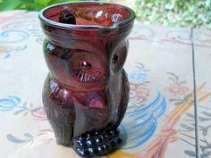 Vintage Purple Owl Creamer Pitcher by UncleJimmysAttic on Etsy