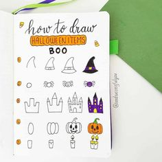 Got tons of Halloween Bullet Journal ideas - doodle tutorials, headers, Bullet Journal spreads. All the inspiration you need to create your own amazingly spooky Halloween Bullet Journal layouts, including - cover page, monthly log, weekly spreads. habit trackers and more. #mashaplans #bulletjournal #halloween #bujoideas