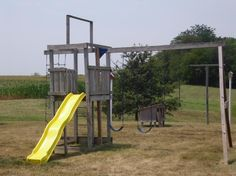 $125.00 Swing-n-Slide Wooden Playground    Cheap swingsets for your backyard