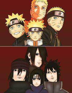 Naruto Uzumaki y Sasuke Uchiha. Naruto Uzumaki, Gif Naruto, Manga Naruto, Naruto Team 7, Naruto Gaiden, Itachi, Sasunaru, Narusasu, Naruhina