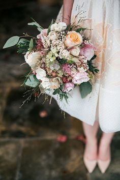 pastel fall bouquet