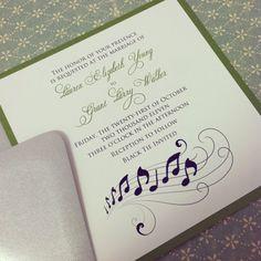 music wedding invitations | Music Note Romantic Wedding Invitation Suite by PeacockPrinting
