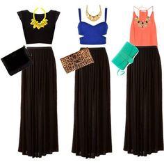 a232366650 La Chica Bien  Combinando una maxi falda negra Pollera Negra Larga