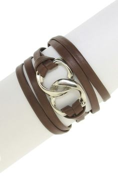 LEILA  Double Link Leather Wrap Bracelet  @Lara Hamadé... I'm going to make you one similar to this, promise :)
