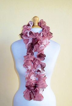 CHERRY Blossom Ruffled scarf  cowl by OriginalDesignsByAR on Etsy, $24.95