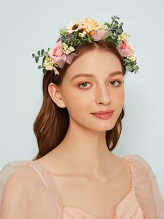 Shop Floral Decor Headband at ROMWE, discover more fashion styles online. Flower Festival, Wedding Girl, Princess Aesthetic, Floral Hair, Latest Hairstyles, Bandeau, Headband Hairstyles, Fashion News, Personal Style
