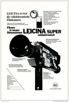 Original-Werbung/ Anzeige 1970 - LEITZ LEICINA SUPER KAMERA - ca. 180 x 240 mm