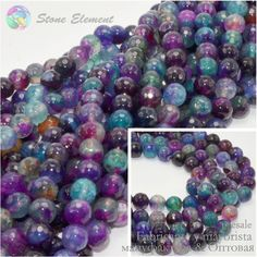 Blueberry Color Crack / Fire Dragon Veins Agate Faceted Beads 4mm ,6mm,8mm,10mm