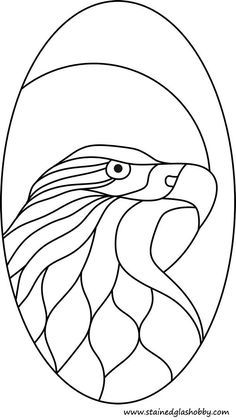 bald eagle pattern. coloring or free stained glass