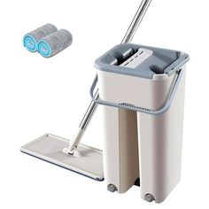 Flat Squeeze Automatic Avoid Hand Washing Mop – Pretty Little Deal Store Cleaning Mops, House Cleaning Tips, Cleaning Hacks, Floor Cleaning, Cleaning Checklist, Cleaning Solutions, Deep Cleaning, Spin Mop, Mop Pads