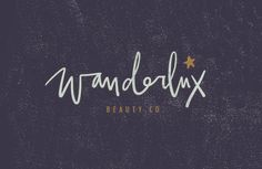 Wanderlux Beauty Co Brand Design by Salted Ink   Brand Stylist and Website Designer   View the full brand design at www.saltedink.com