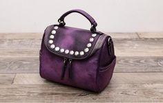 Leather Tote Bag Messenger Bag Shopping Bag Lady Bag WF 54 - ArtofLeather