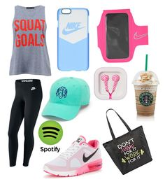 """""""Workout #ootd"""" by lpfiszter on Polyvore featuring NIKE, City Streets and claire's"""