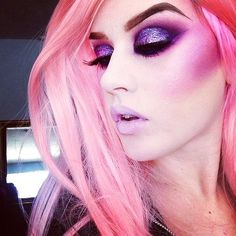 pink unicorn makeup.