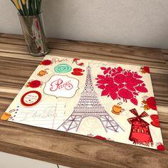 Jogo americano Paris www.popartdesign.com,Br