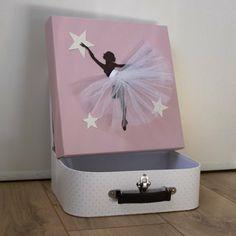 Tableau personnalisé Danseuse au tutu blanc - desMerveilles.com Crafts To Make And Sell, Diy And Crafts, Crafts For Kids, Wall Art Crafts, Diy Wall Art, Ballet, Diy Paper, Nursery Art, Kids And Parenting