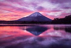 """logcamera-gallery: """"精進湖から見る富士の朝焼け """" 一富士、二鷹、三茄子。みんなの初夢はなんだった?"""