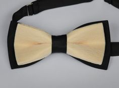 Cream and Black Satin and Lace Bow Tie  Groom by KristineBridal, $21.00