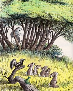What a sweet illustration of woodland creatures