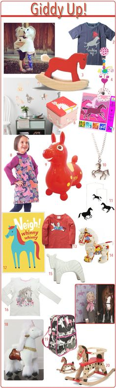 KidStyleFile Roundup : Giddy Up Horsey! 20 Horse Themed Items for Kids