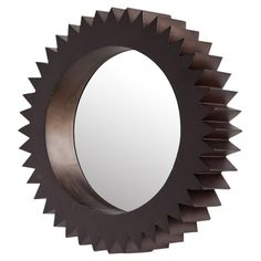 """Found it at Wayfair - Cog 19"""" Wall Mirror in Brown"""