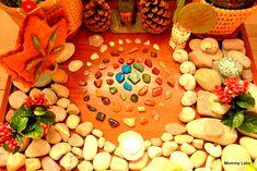 Nature table/spiritual garden for the kids