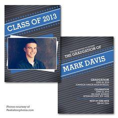 Lush Peek Graduation Announcement  1