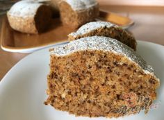 The best carrot-walnut cakes Vegan Baking Recipes, Cooking Recipes, Sweet Desserts, Sweet Recipes, Carrot And Walnut Cake, Toffee Bars, Bunt Cakes, Czech Recipes, Healthy Sweets