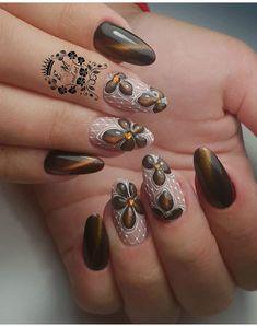 Toe Polish, Fall Nail Art, Beauty Nails, Manicure, Finger, Gemstone Rings, Nail Designs, Photo Wall, Beautiful