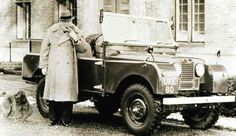 Churchill in his beloved Land Rover