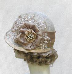 1920S Womens Hats | Womens Hat 1920's Edwardian Wedding Hat Vintage Style ... | 1920s sty ...