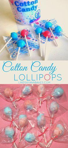 Lindsay Ann Bakes: Mini Cotton Candy Lollipops