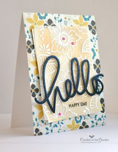 Love the patterns, the color-washed cardstock, and the vellum overlay.